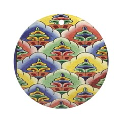 Colourful Blooms Ornament (Round)