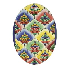 Colourful Blooms Oval Ornament