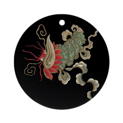 Chinese Luck Dragon Ornament (Round)