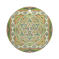 Asian Floral Ornament (Round)