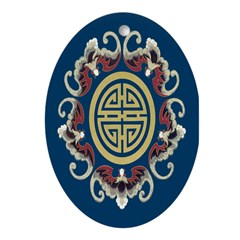 China Dragon Oval Ornament