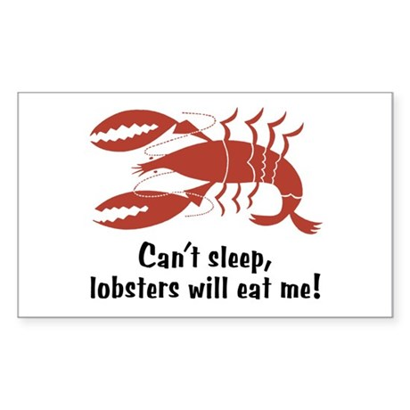 Funny Lobster Rectangle Sticker