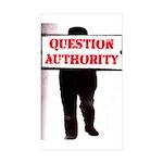 QUESTION AUTHORITY Rectangle Sticker 50 pk)