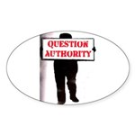 QUESTION AUTHORITY Oval Sticker (10 pk)