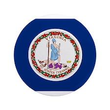 """Beloved Virginia Flag Modern Style 3.5"""" Button"""