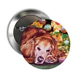 Golden Retriever Christmas Button