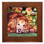 Golden Retriever Christmas Framed Tile