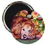 Golden Retriever Christmas Magnet