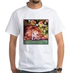 Golden Retriever Christmas White T-Shirt