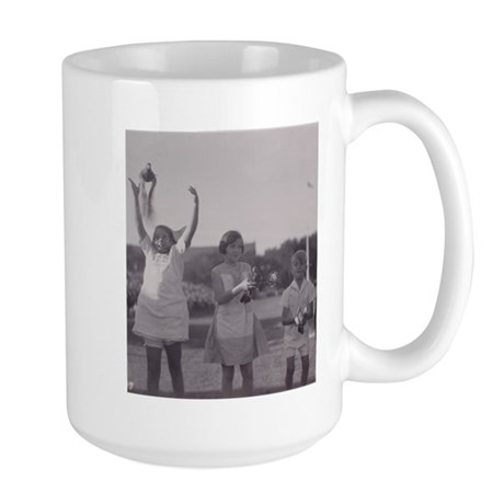 Carrier Pigeon with Children Large Mug
