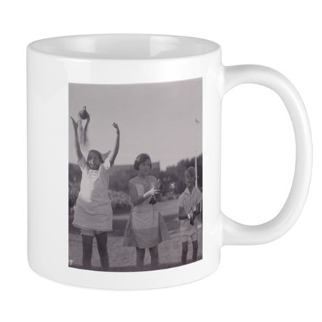 Carrier Pigeon with Children Mug