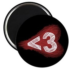 """Less Than Three - 2.25"""" Magnet (10 pack)"""