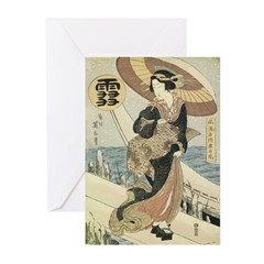 Japanese Woman Greeting Cards (Pk of 20)