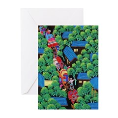 Village Procession Greeting Cards (Pk of 20)