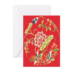 Asian Floral Cards (Pk of 10)