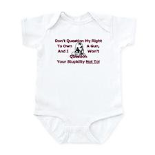 Dont Question (Pink) Infant Bodysuit