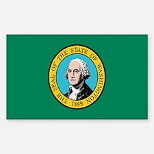 Beloved Washington Flag Moder Rectangle Decal