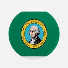"""Beloved Washington Flag Moder 3.5"""" Button"""