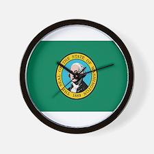 Beloved Washington Flag Moder Wall Clock