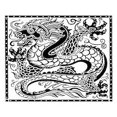 Korean Dragon Unframed Print
