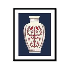 Asian Vase (Blue) Framed Print