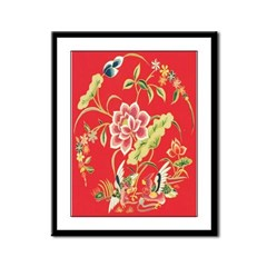 Medieval Chinese Floral Framed Print