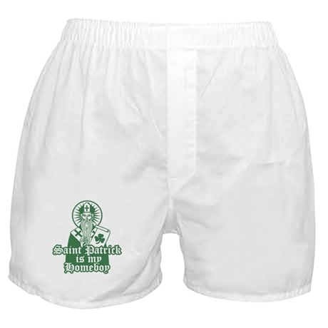 Saint Patrick is My Homeboy Boxer Shorts