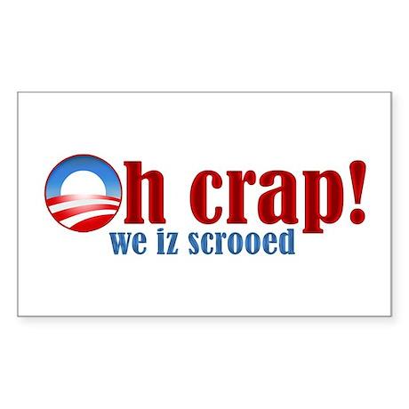 O crap! Rectangle Sticker