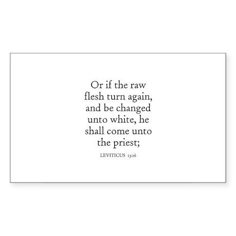 LEVITICUS 13:16 Rectangle Sticker