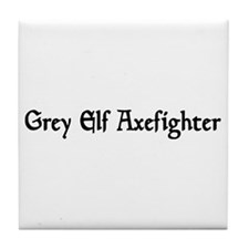 Grey Elf Axefighter Tile Coaster