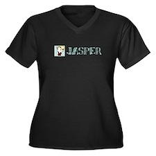 Jasper Women's Plus Size V-Neck Dark T-Shirt