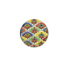 Colourful Blooms Mini Button (10 pack)