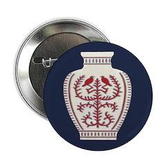 """Asian Vase (Blue) 2.25"""" Button (10 pack)"""
