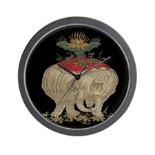 Decorative Asian Elephant Wall Clock