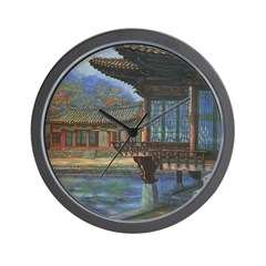 Japanese Arbor Wall Clock