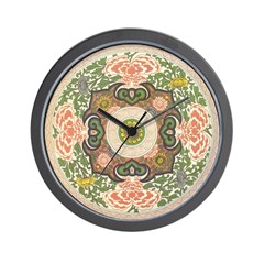 Chinese Floral Wall Clock