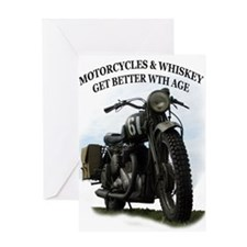 oldtimer motorcycle Greeting Card
