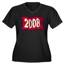 2008 Philly Flag Women's Plus Size V-Neck Dark T-S