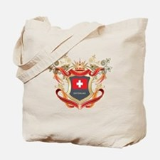 Swiss flag emblem Tote Bag