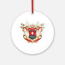 Swiss flag emblem Ornament (Round)