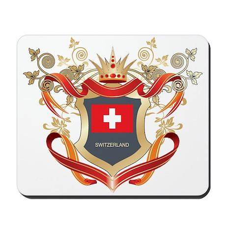 Swiss flag emblem Mousepad