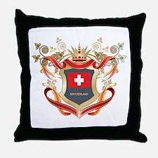 Swiss flag emblem Throw Pillow
