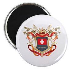 "Swiss flag emblem 2.25"" Magnet (10 pack)"