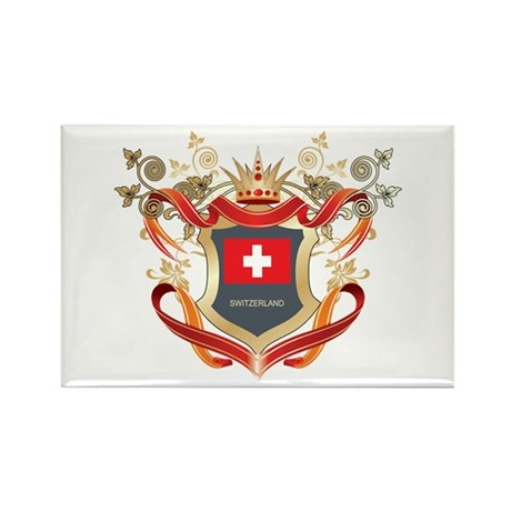 Swiss flag emblem Rectangle Magnet