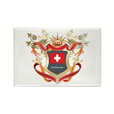 Swiss flag emblem Rectangle Magnet (100 pack)