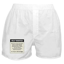 oddFrogg Help Wanted Boxer Shorts