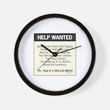 oddFrogg Help Wanted Wall Clock