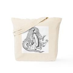 Shogun and Dragon Tote Bag