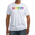 Obama Rainbow Pop Fitted T-Shirt