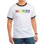 Obama Rainbow Pop Ringer T